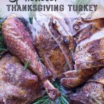 Spatchcock Thanksgiving Turkey Recipe. Pinterest image by foodology geek.