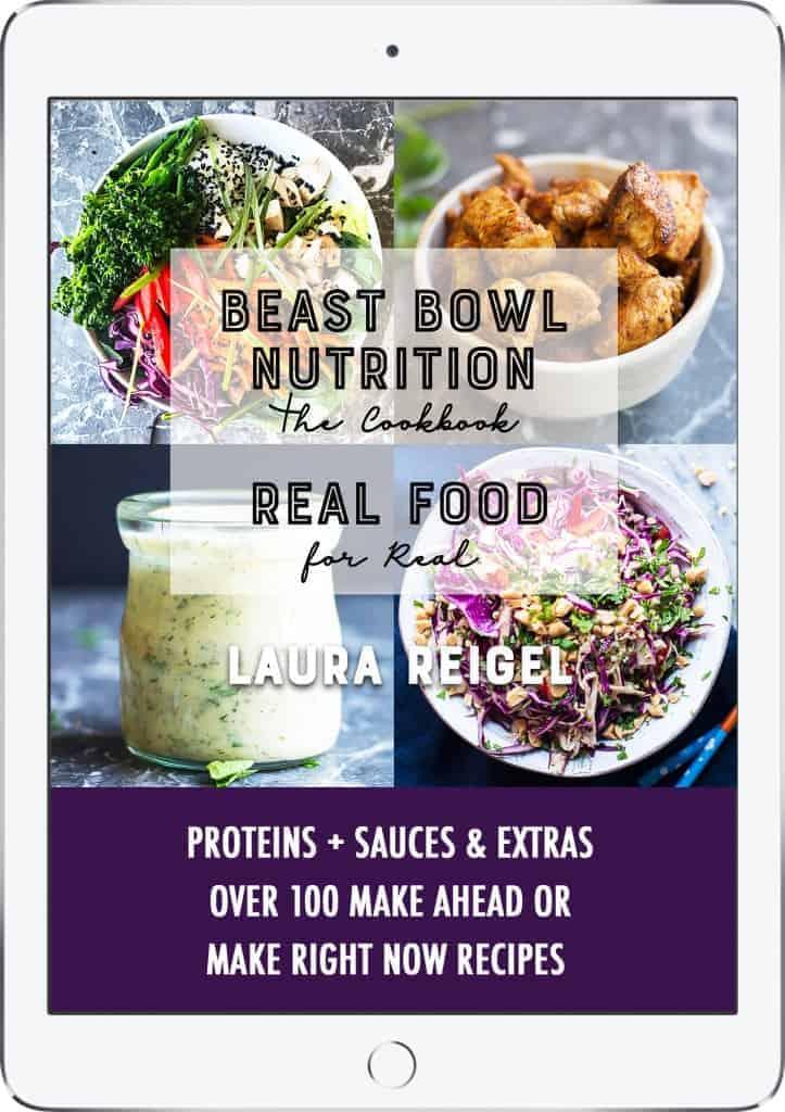 Beast Bowl Nutrition ECookbook. iPad Image.
