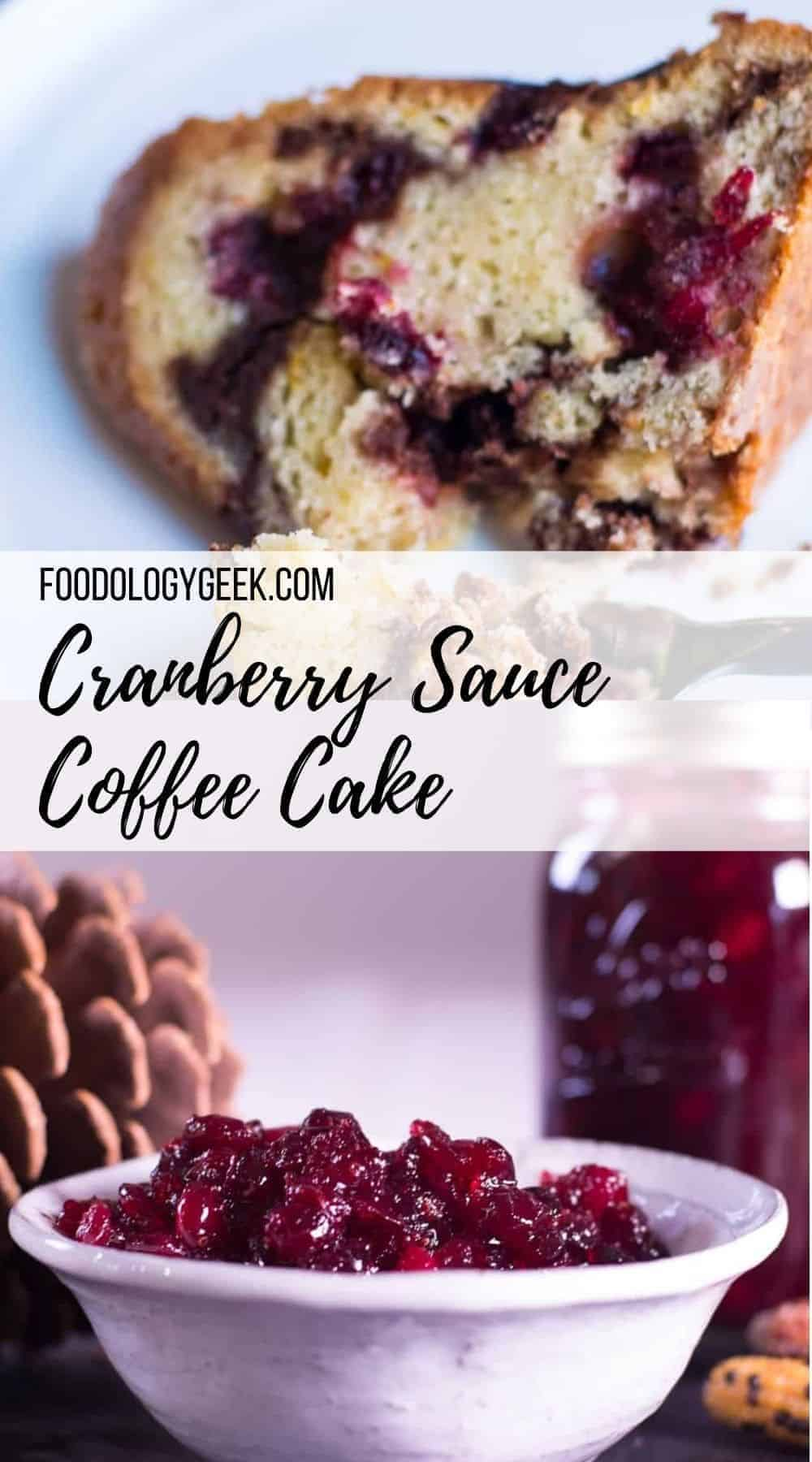 If you're not sure what to do with leftover cranberry sauce — This easy coffee cake recipe is the answer you've been waiting for.