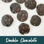 chocolate shortbread cookies recipe. Pinterest Image by foodology geek.
