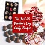 featured image for the blog post about 25 valentines day candy recipes by foodology geek round up