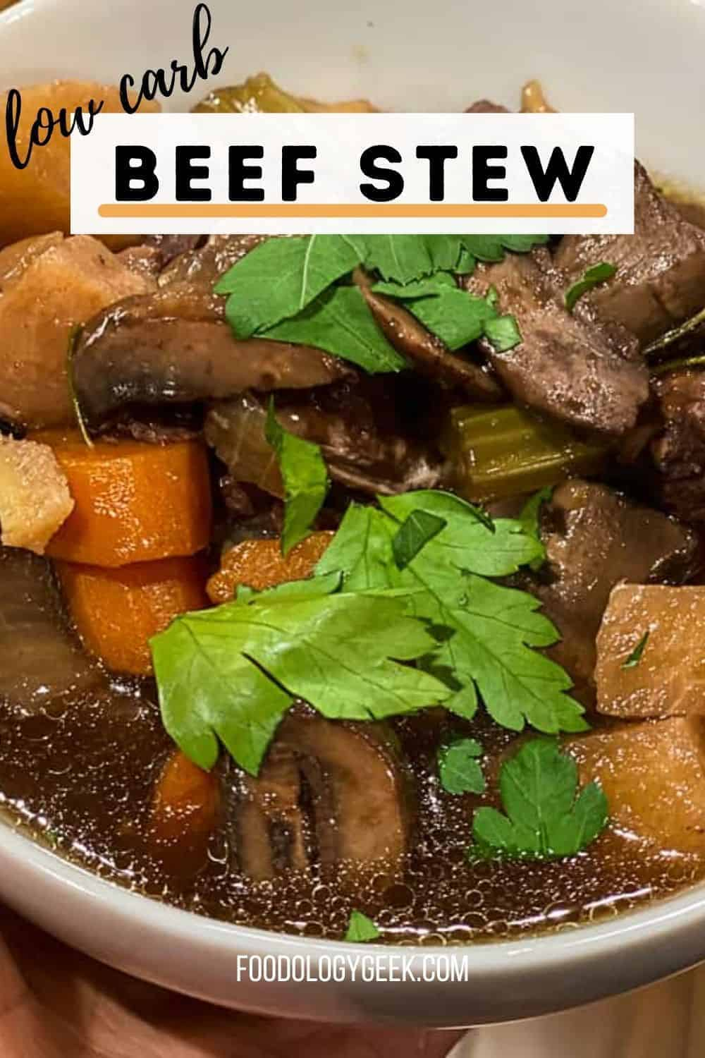 This easy beef stew recipe is low carb and gluten-free. Get all of the instructions for your Instant pot or make this classic beef stew in your dutch oven.
