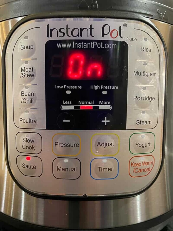 Instant Pot on the saute setting, can be used to brown meat when making a stew.