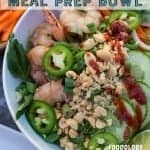 lemongrass shrimp meal prep bowl pinterest image from foodology geek