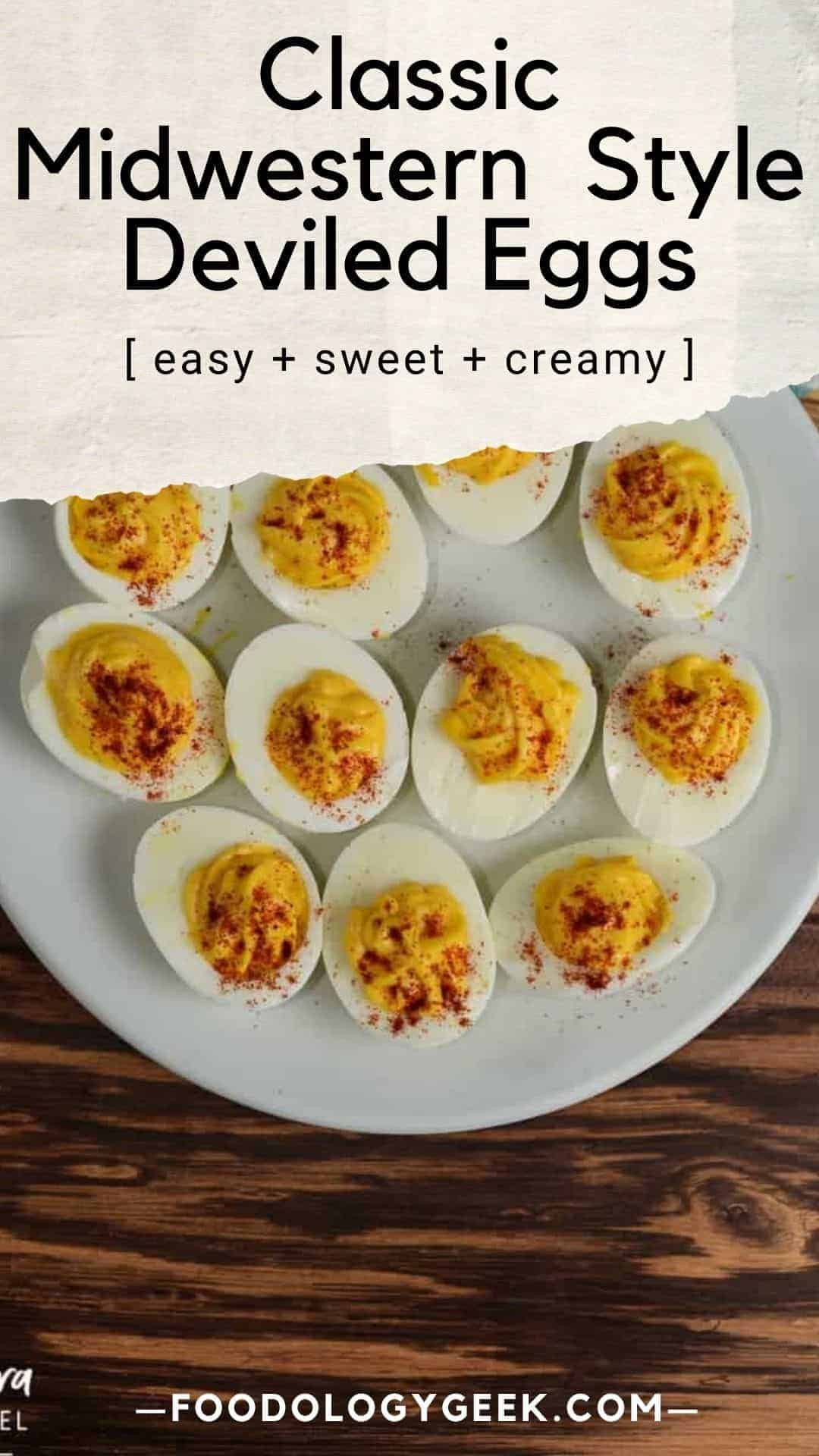 These deviled eggs are a classic! In fact, this recipe is my Grandma Sisson's original recipe. They are sweet and a little bit tangy. Family recipes are always a hit, in my book. If you're in for sticking to tradition, these deviled eggs are a clear winner.