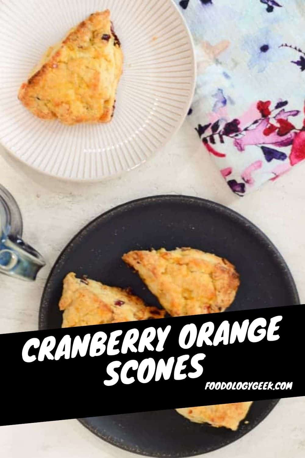 These glazed scones are buttery and flaky with a burst of cranberry and orange flavor. This recipe is completely fail-proof. I promise you will get perfect scones every single time.