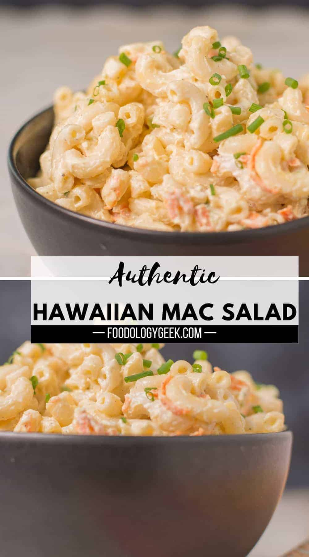 Authentic Hawaiian Macaroni Salad Recipe. Just like the kind you get with plate lunch.