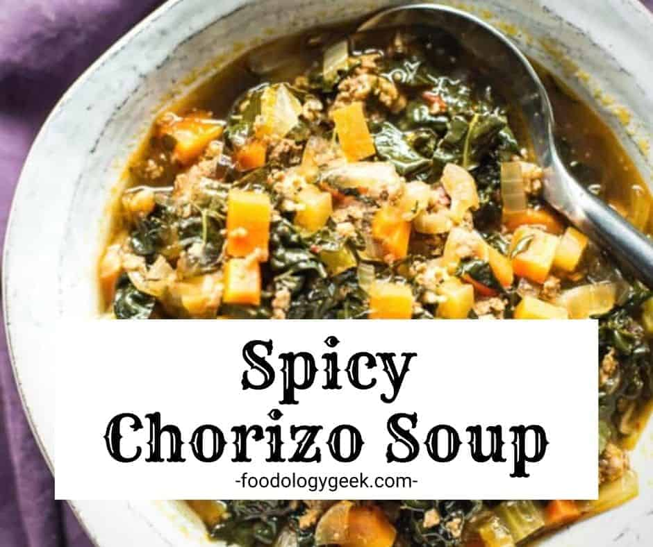 Chorizo soup 🍲is a hearty and satisfying soup recipe that's easy to make. All of the ingredients go in one-pot and simmer. It's the perfect bowl of soup.