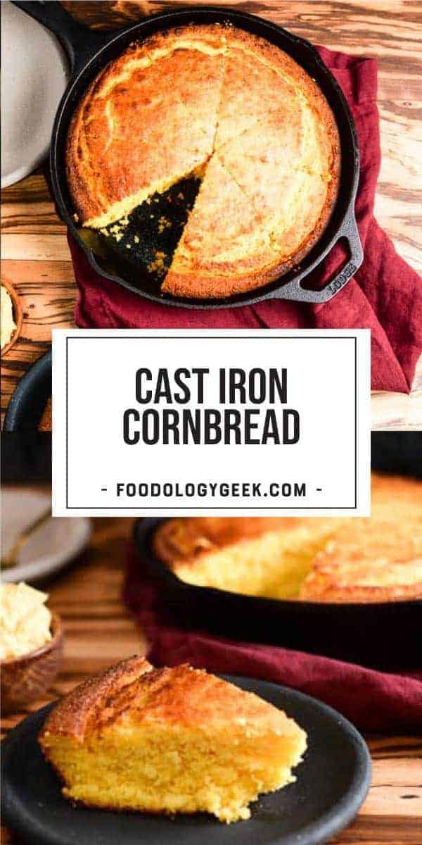 cast iron skillet cornbread recipe pinterewt image by foodology geek