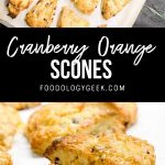 glazed cranberry orange scone recipe