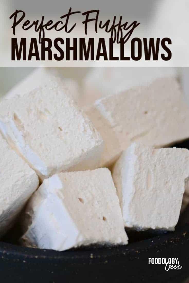 homemade marshmallows pinterest image | foodology geek