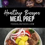 healthy meal prep bowl recipe with meatloaf. pinterest image by foodology geek.