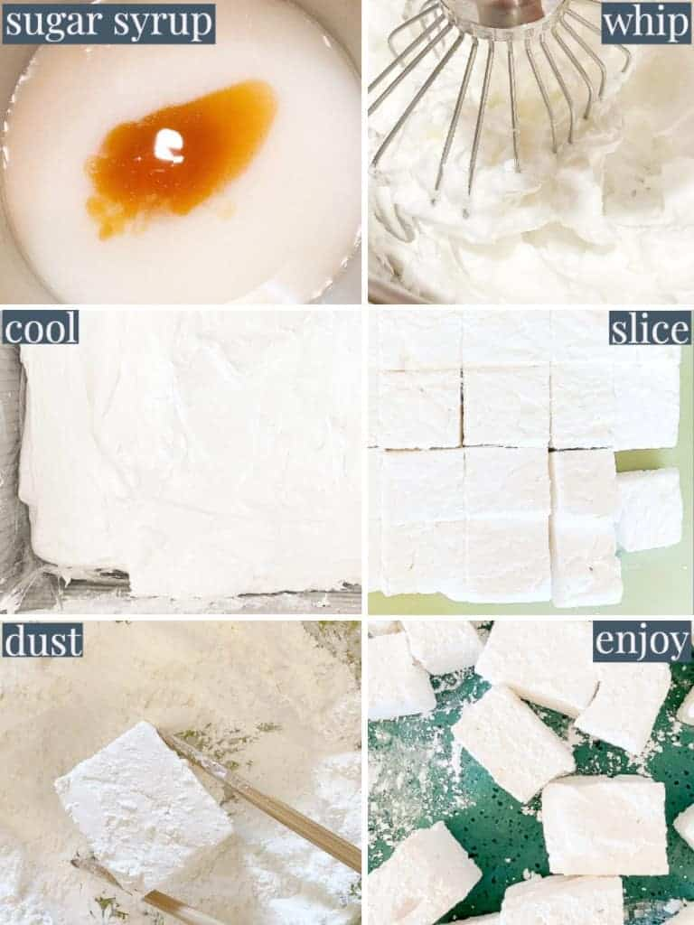 process shots for marshmallows | foodology geek