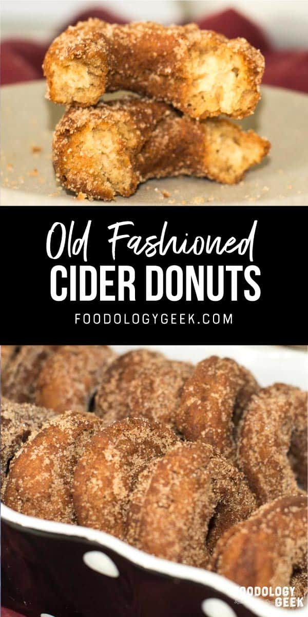 apple cider donuts pinterest image by foodology geek