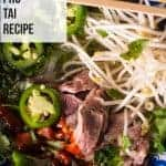 Vietnamese pho tai recipe. pinterest image. recipe by foodology geek