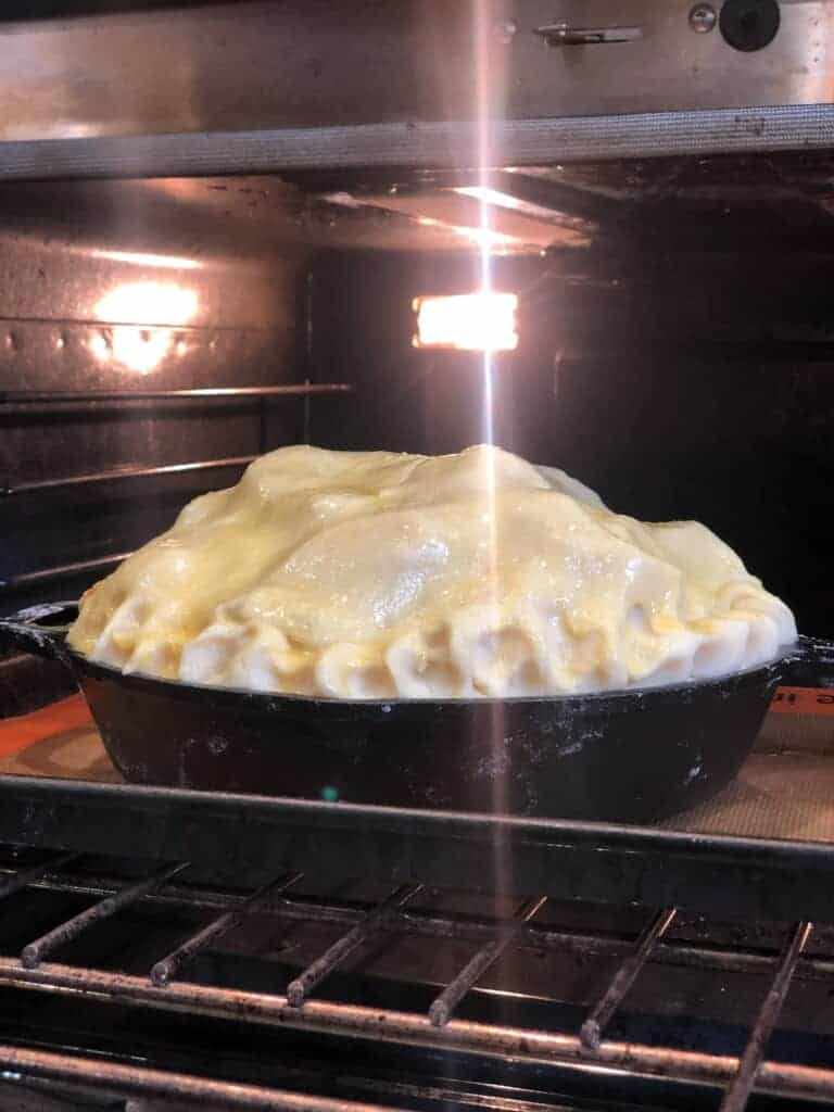 put the pie in the oven