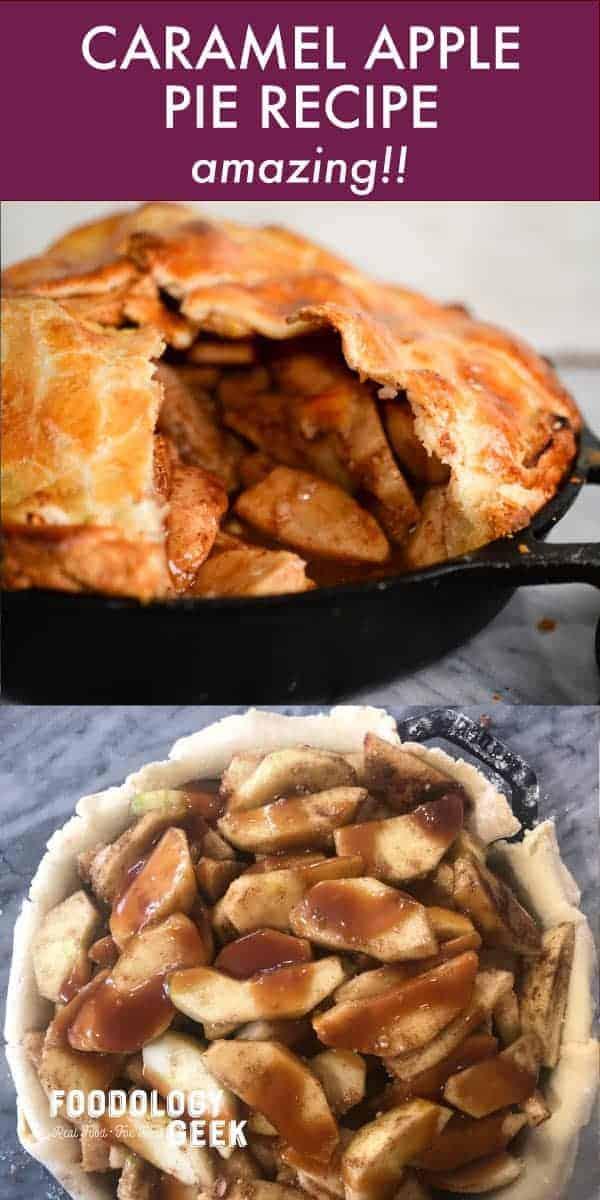 caramel apple pie recipe pinterest image by foodology geek.