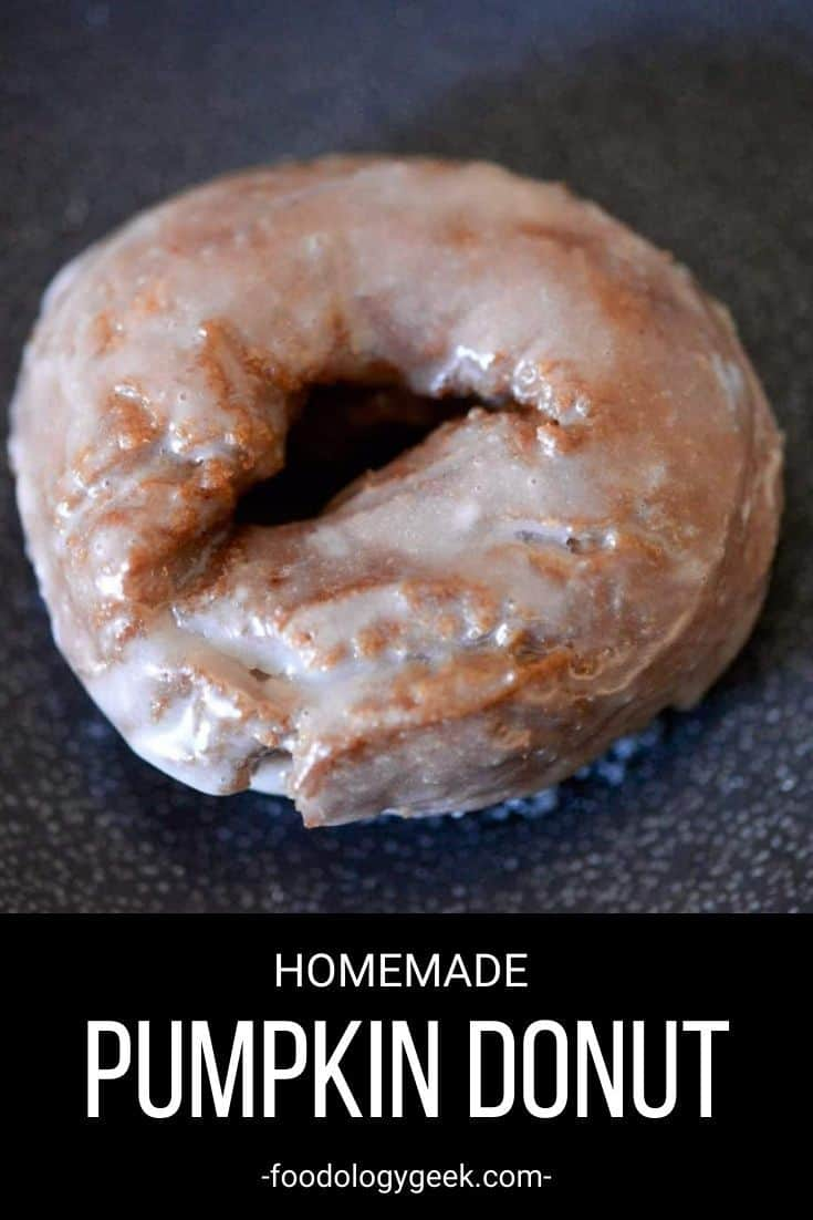 This homemade pumpkin donut has the rich cakey texture of old fashioned donut with the perfect crispy outside. Then the donut is glazed with a maple spice glaze.