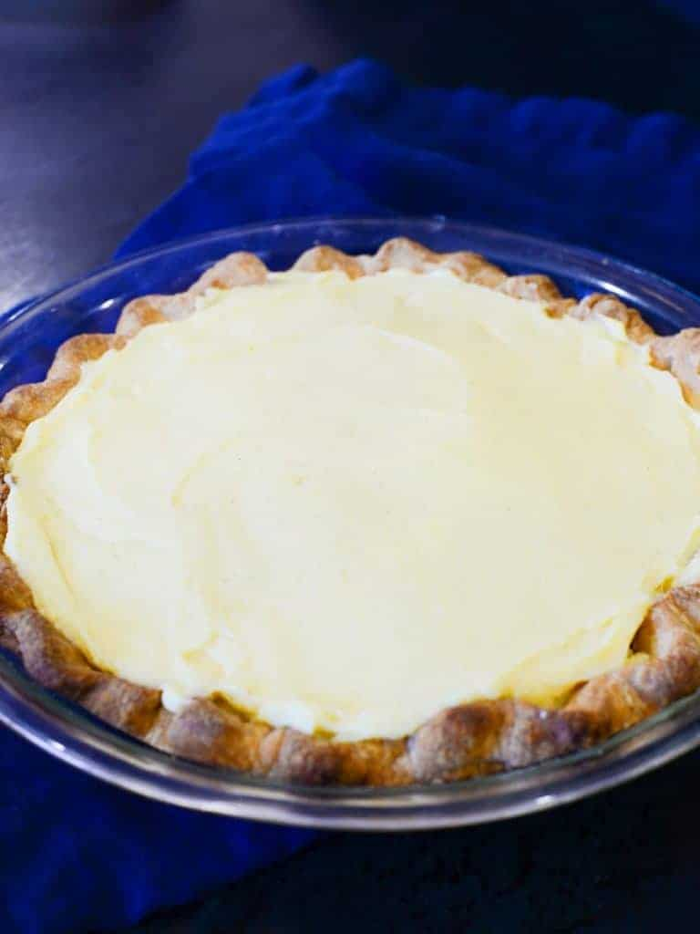 second layer of vanilla custard in a banana cream pie