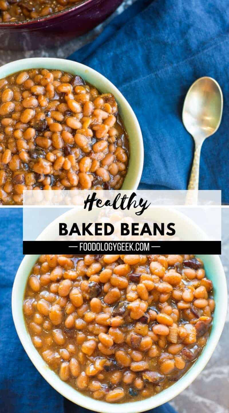 This baked bean recipe is a family recipe that my mom has been making for as long as I remember. These oven-baked beans get their smoky-sweet flavor from brown sugar and bacon. They're baked in a cast iron pan. I've honestly never taste baked beans as good as these ones.
