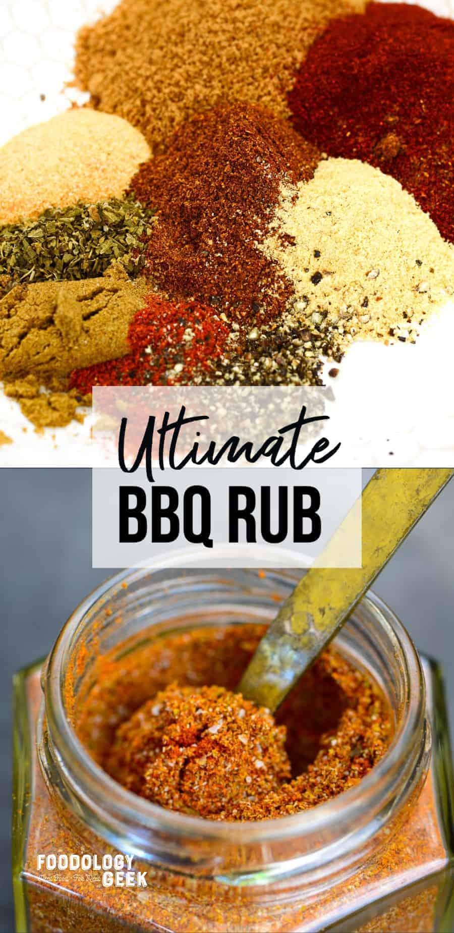 ultimate bbq rub recipe. pinterest image | foodologygeek