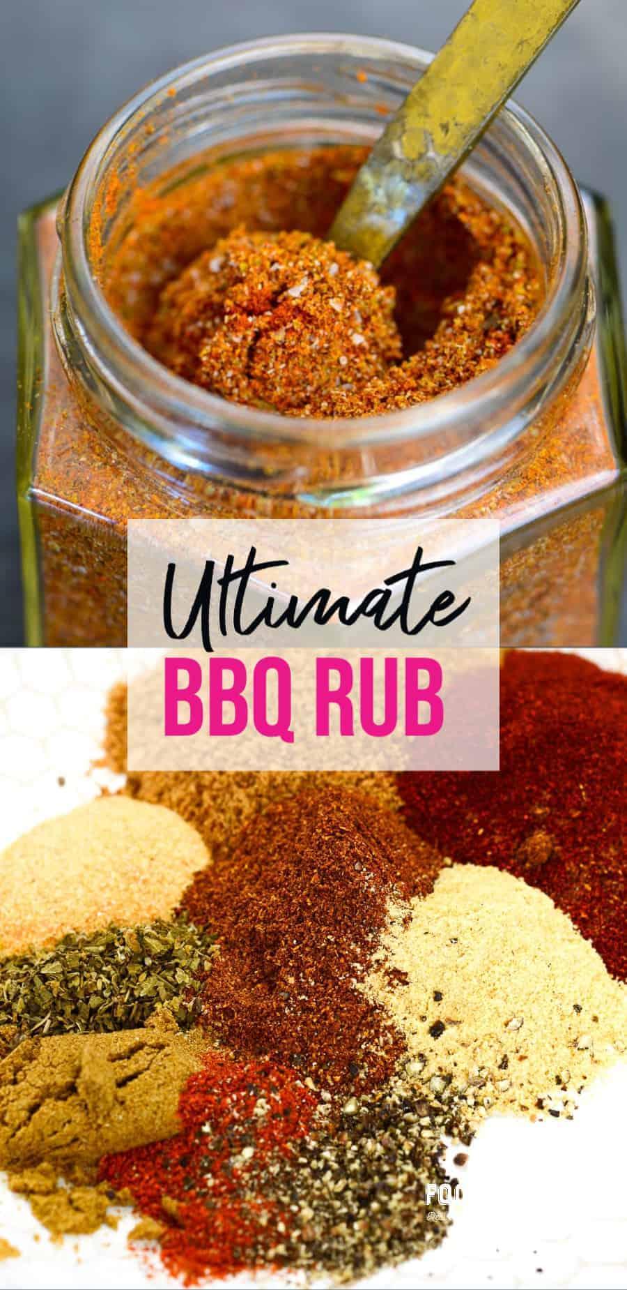ultimate bbq rub recipe. pinterest image | foodology geek