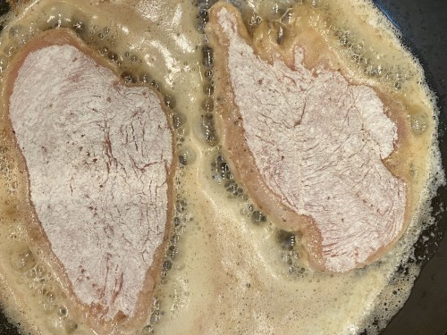brown the chicken breasts in olive oil and butter | foodology geek