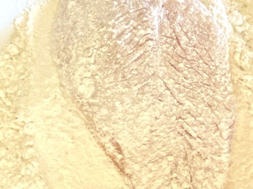 chicken breast dredged in flour | foodology geek