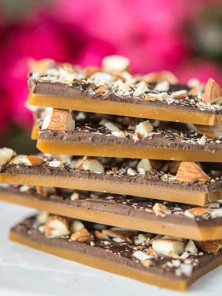 stack of english butter toffee | foodology geek