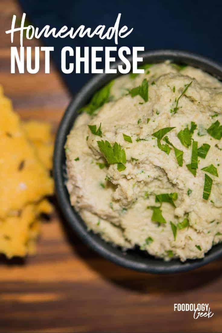 vegan nut cheese pinterest image | foodology geek