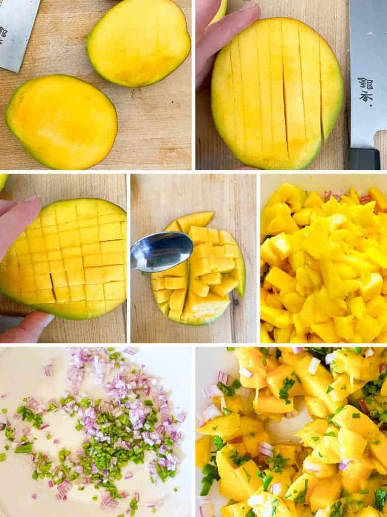 step by step instructions for mango salsa
