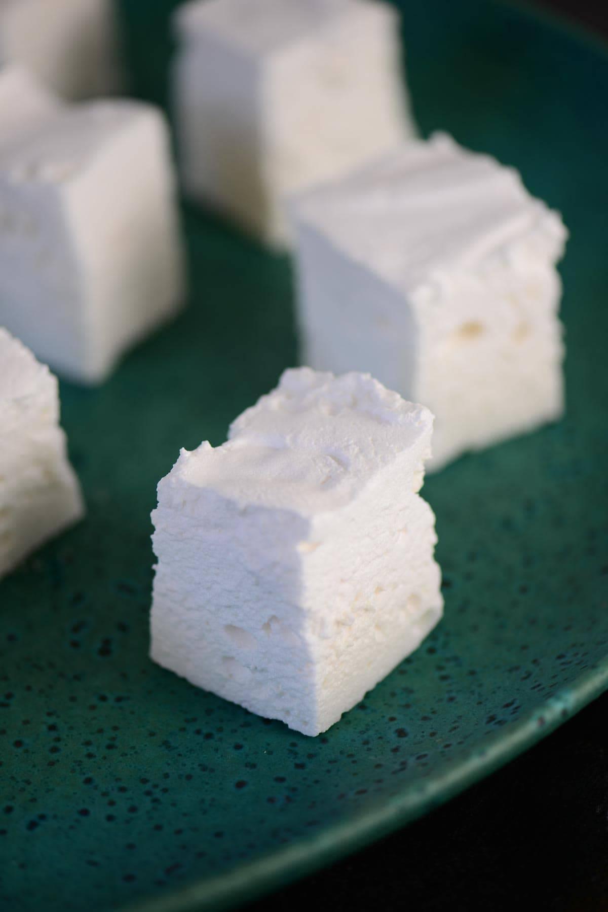 sugar free marshmallows on a plate
