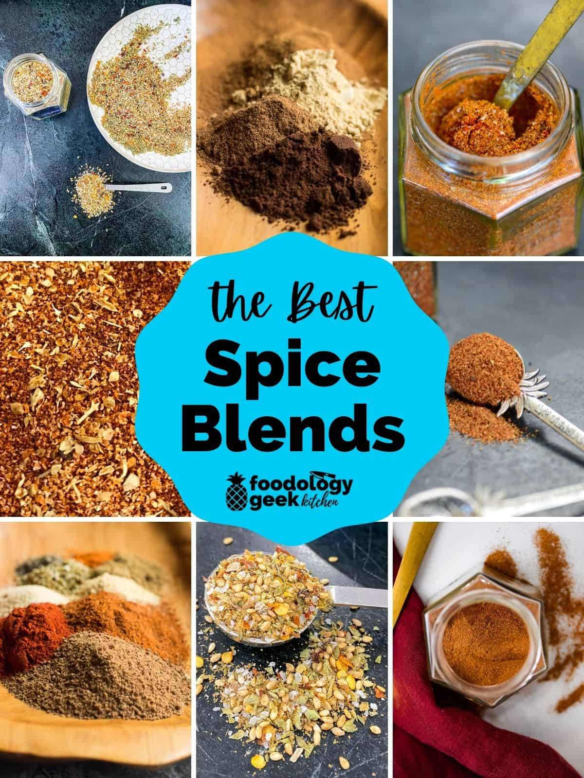 a collage of seasoning blend recipes