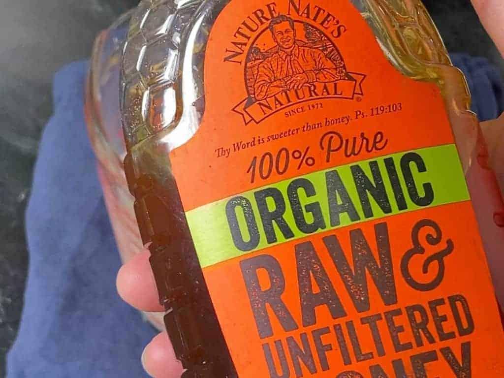 organic raw unfiltered honey label