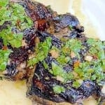 grilled chimichurri chicken with goat cheese mashed potatoes pinterest image
