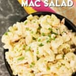 hawaiian mac salad recipe pinterest image