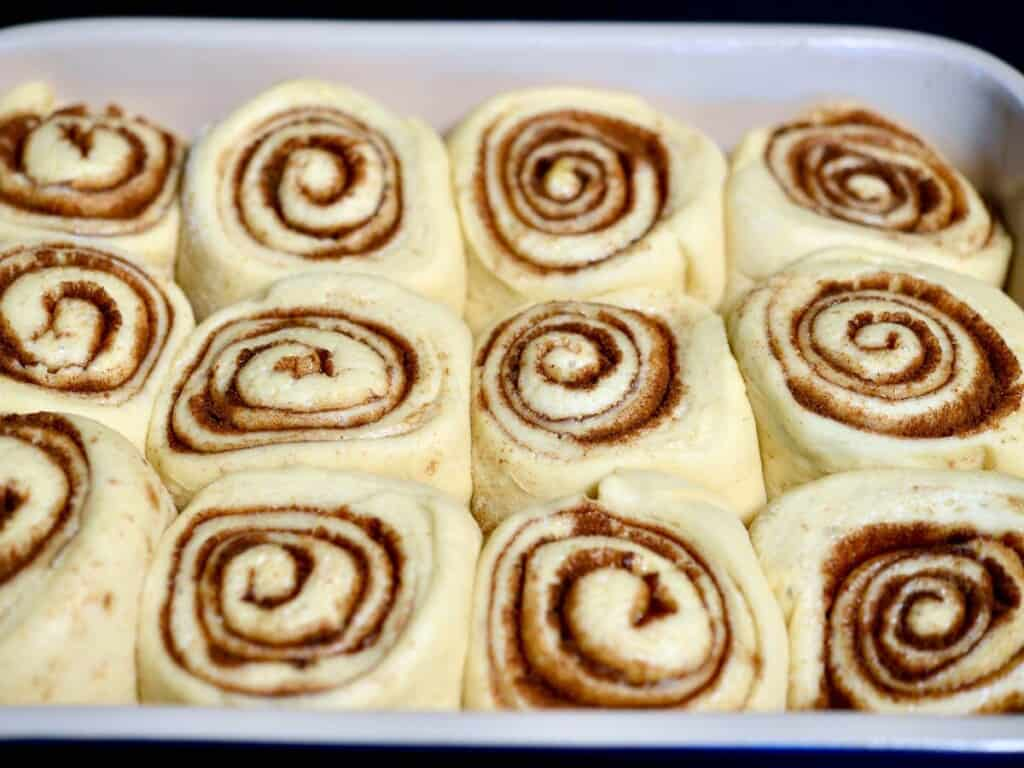 Allow the rolls to rise for about an hour. They sould be about doubled in size.