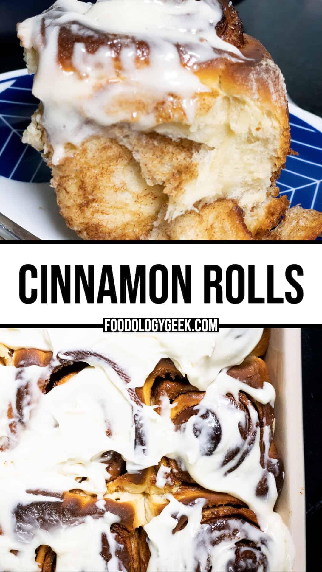 cinnamon rolls pinterest image