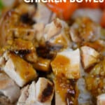 teriyaki chicken bowl pinterest image