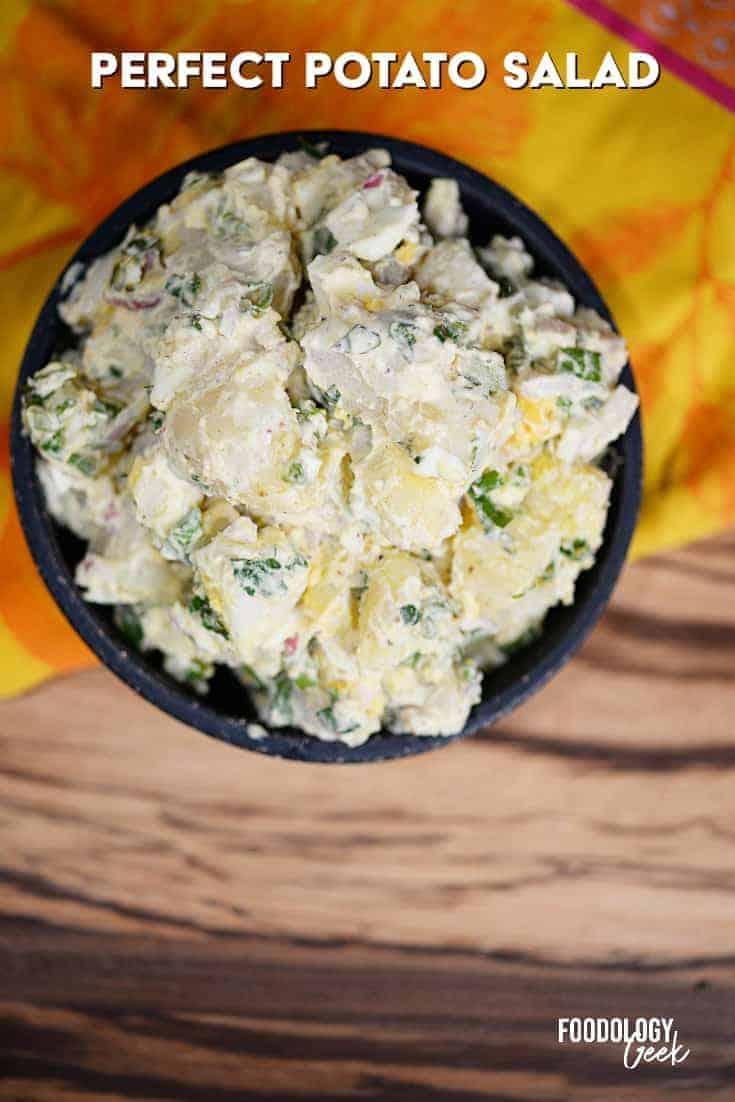 creamy potato salad recipe pinterest image