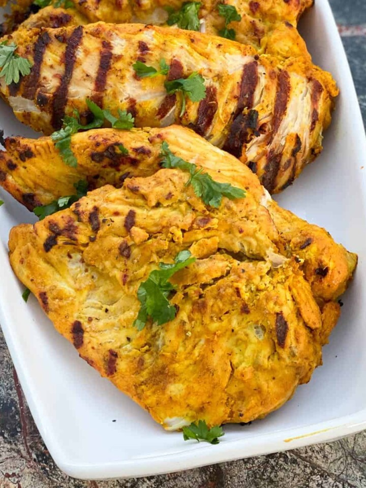 grilled yellow curry chicken