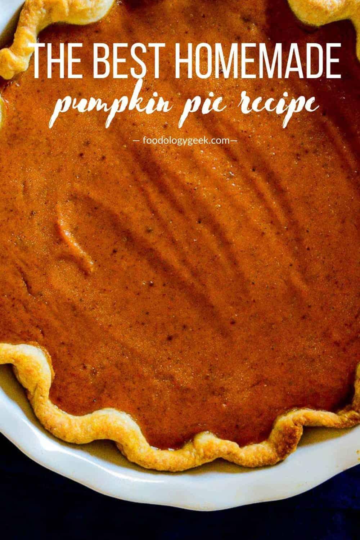 pumpkin pie recipe pinterest image