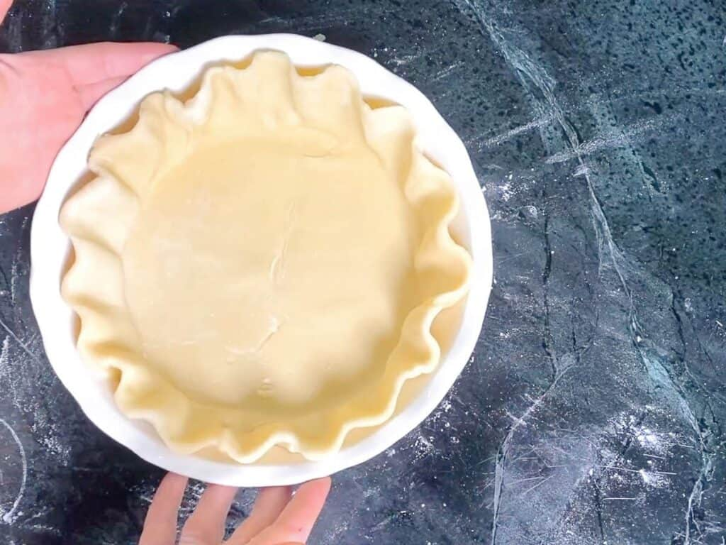 fully crimped pie dough