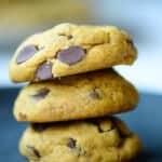 stack of pumpkin chocolate chips cookies