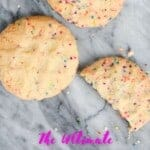 rainbow sprink sugar cookies pinterest image
