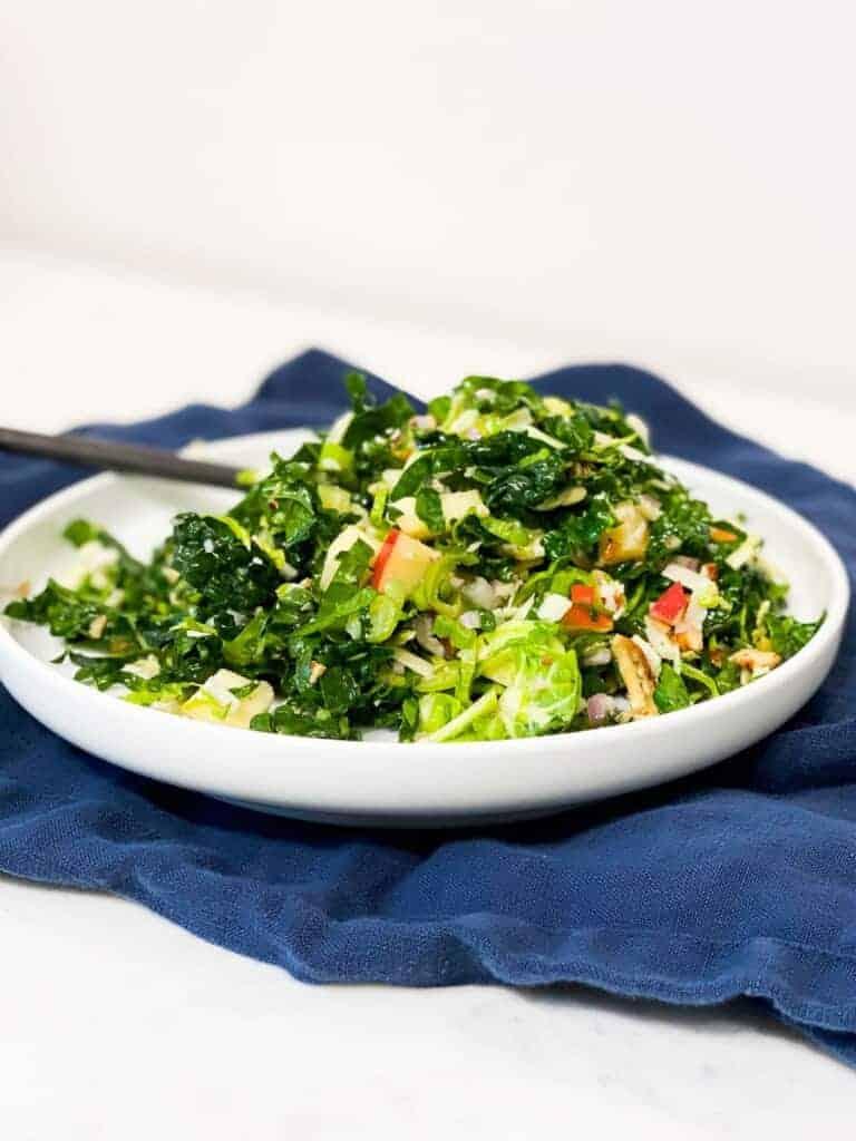 apple and kale fall harvest salad recipe