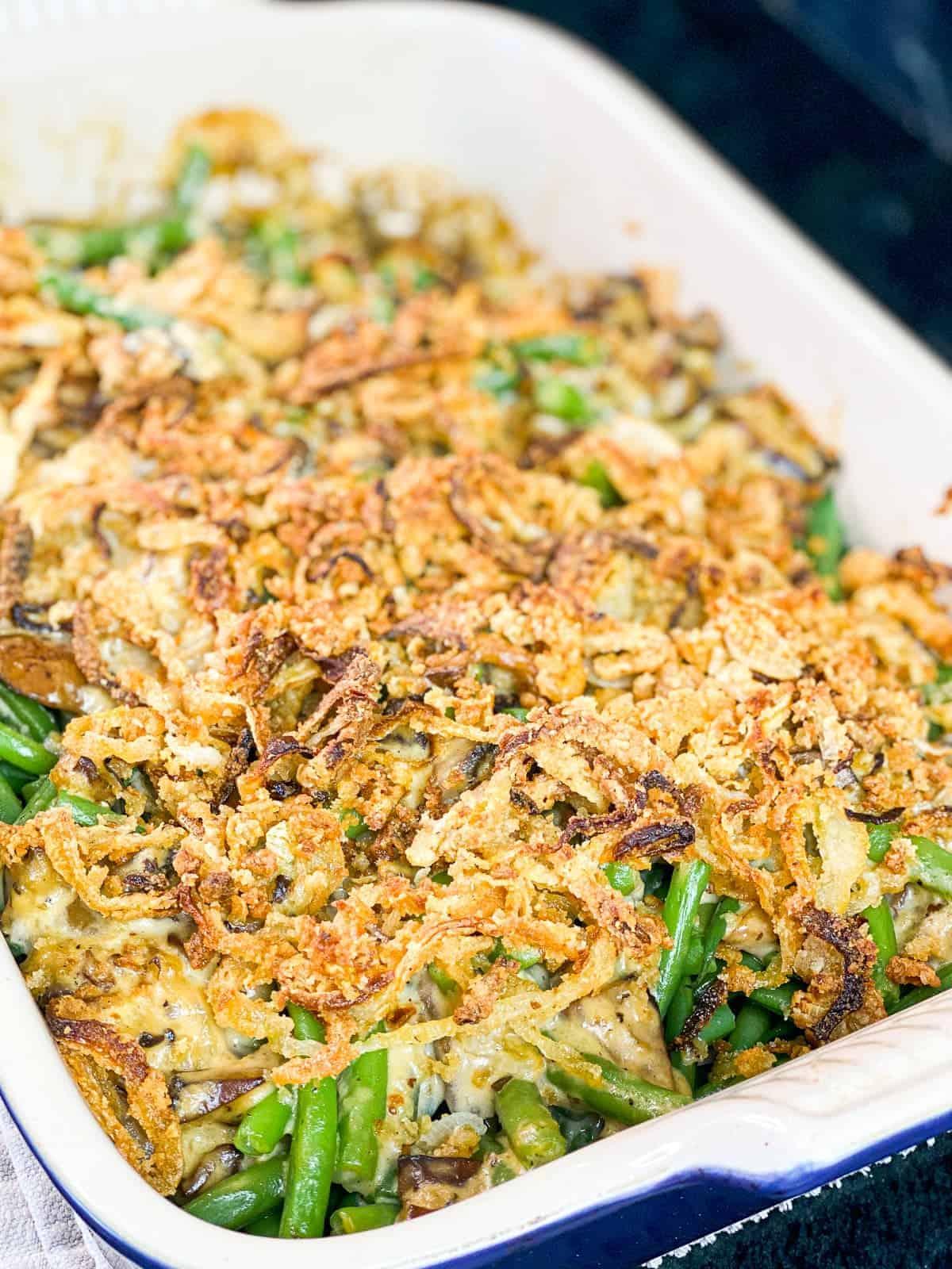 fresh green bean casserole from scratch