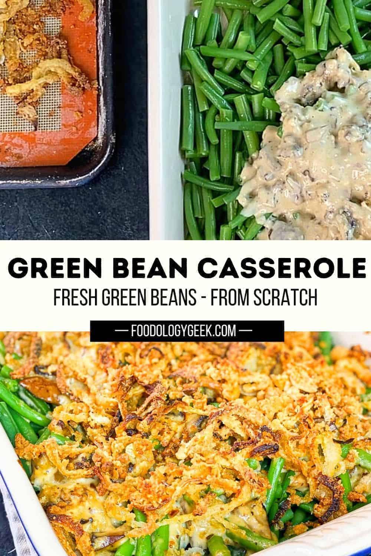 green bean casserole made from scratch