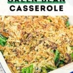 classic green bean casserole made from scratch