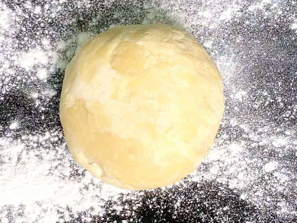 place the chilled pie dough on a floured surface